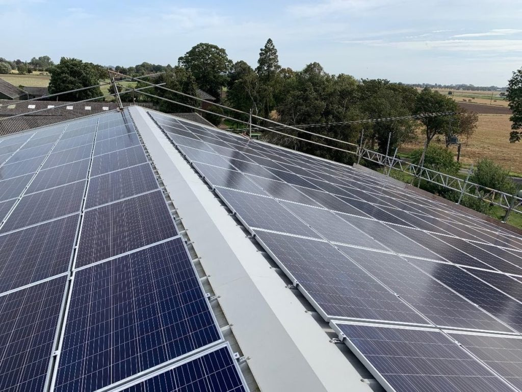 agricultural solar panel installation